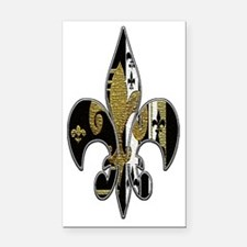 Fleur de lis bling Rectangle Car Magnet