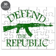 DEFEND THE REPUBLIC (green ink) Puzzle