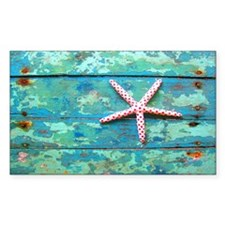 Starfish on Turquoise Table Sh Decal