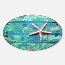 Starfish on Turquoise Table Shoudle Decal