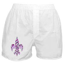 Fleur de lis zebra print Boxer Shorts
