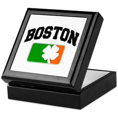 Boston Shamrock Keepsake Box
