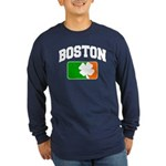 Boston Shamrock Long Sleeve Dark T-Shirt