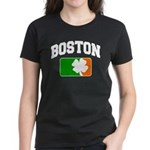 Boston Shamrock Women's Dark T-Shirt
