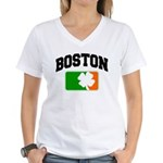 Boston Shamrock Women's V-Neck T-Shirt