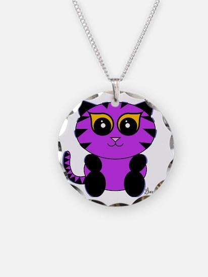 Purple Kitty Necklace