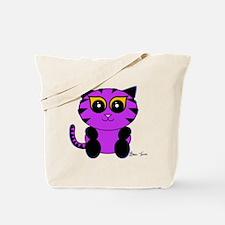 Purple Kitty Tote Bag