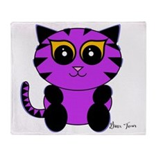 Purple Kitty Throw Blanket