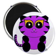 Purple Kitty Magnet