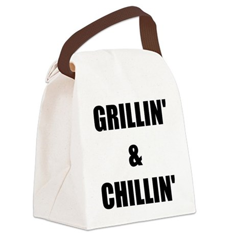 GRILLIN AND CHILLIN Canvas Lunch Bag