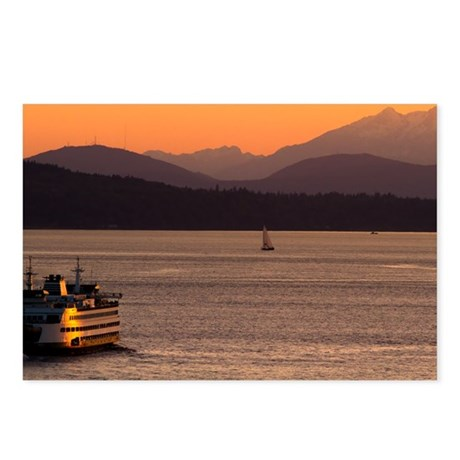 Puget Sound at Sunset Postcards (Package of 8)