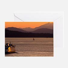 Puget Sound at Sunset Greeting Card