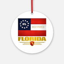Florida Deo Vindice Round Ornament