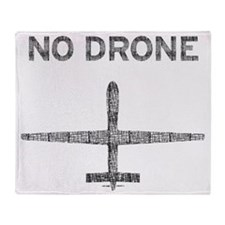 No Drone Throw Blanket