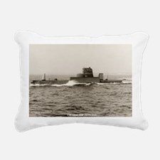 uss grouper agss framed  Rectangular Canvas Pillow