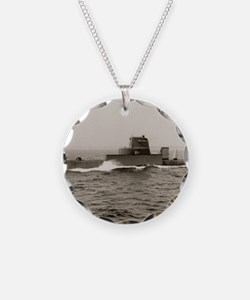 uss grouper agss framed pane Necklace