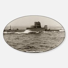 uss grouper agss large framed print Decal