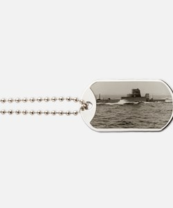uss grouper agss large framed print Dog Tags