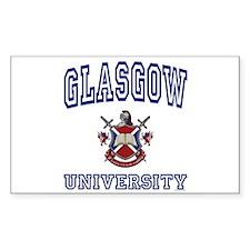 GLASGOW University Rectangle Decal