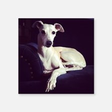 """whippet Square Sticker 3"""" x 3"""""""