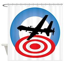 Drone Logo Shower Curtain
