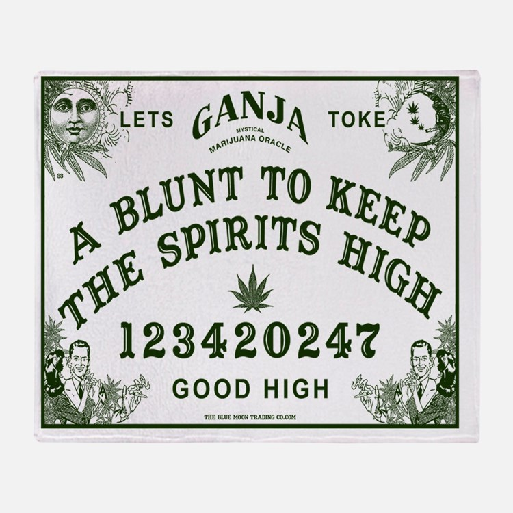 Ganja Ouija Board Throw Blanket