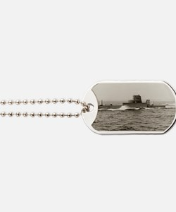 uss grouper agss rectangle magnet Dog Tags