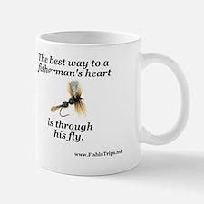 fishermans heart beer cooler Mug