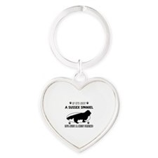 SUSSEX SPANIEL designs Heart Keychain