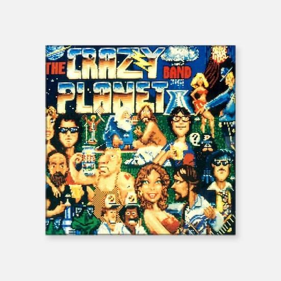"Ride the Wind 1988 Crazy Pl Square Sticker 3"" x 3"""