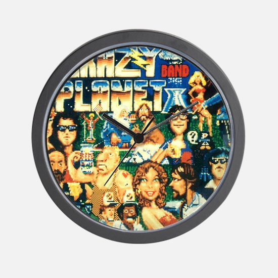 Ride the Wind 1988 Crazy Planet LP cove Wall Clock