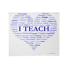 Teachers Heart Throw Blanket