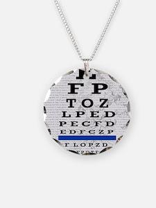 optomitrist blanket blue Necklace