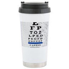 optomitrist blanket blue Travel Mug