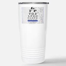 optomitrist blanket blue Travel Mug