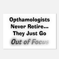 opthamologists never reti Postcards (Package of 8)