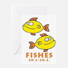 zodiac fishes Greeting Card
