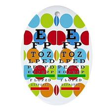 Eye Chart FF 8 Oval Ornament