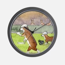 Bowls on the green Wall Clock