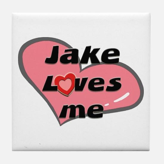 jake loves me  Tile Coaster