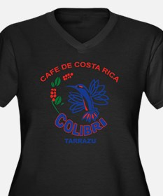 Cafe De Cost Women's Plus Size Dark V-Neck T-Shirt
