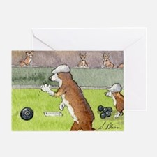 Bowls on the green Greeting Card