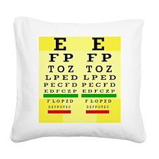 Eye Chart FF 5 Square Canvas Pillow