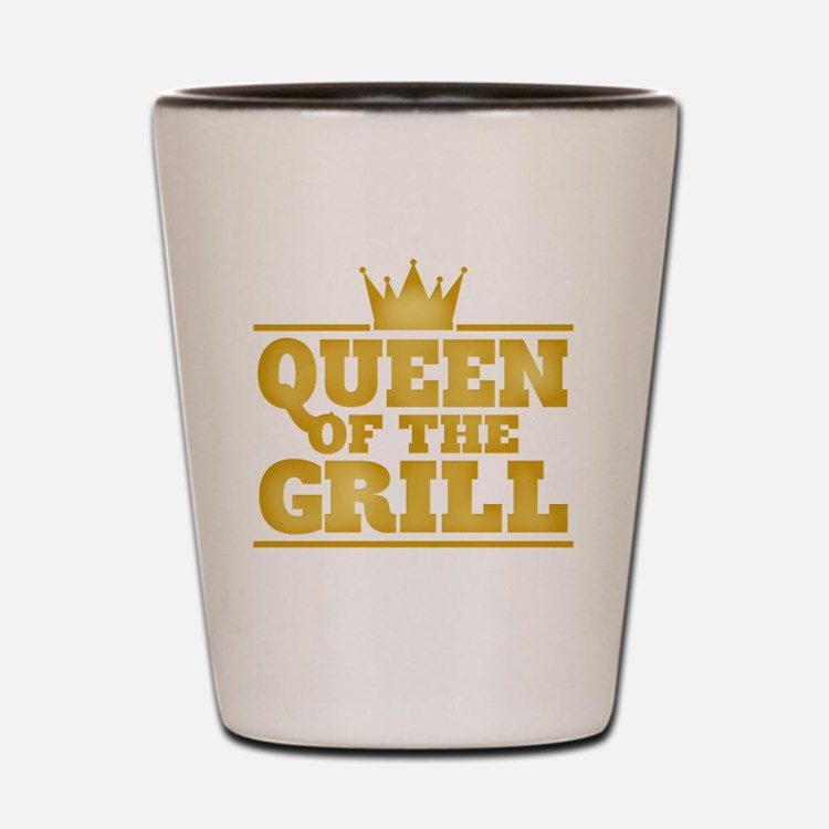Queen of the Grill Shot Glass
