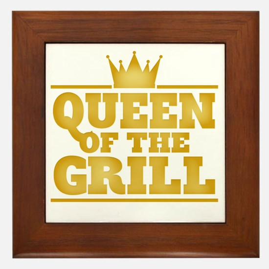Queen of the Grill Framed Tile