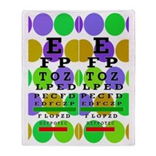 Eye Chart FF 9 Throw Blanket