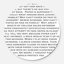 Rock Paper scissors Round Car Magnet