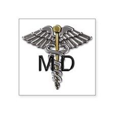 "MD Symbol Square Sticker 3"" x 3"""