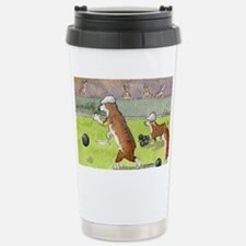 Bowls on the green Stainless Steel Travel Mug