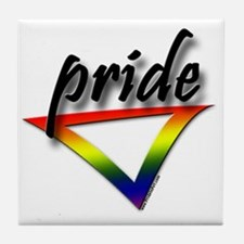 Gay Pride Triangle Tile Coaster
